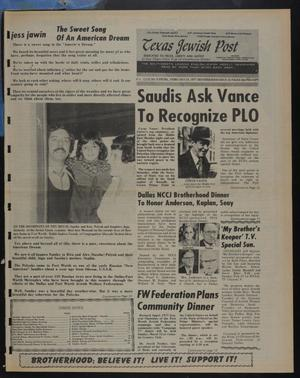 Primary view of object titled 'Texas Jewish Post (Fort Worth, Tex.), Vol. 31, No. 8, Ed. 1 Thursday, February 24, 1977'.
