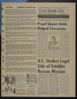 Primary view of object titled 'Texas Jewish Post (Fort Worth, Tex.), Vol. 30, No. 29, Ed. 1 Thursday, July 15, 1976'.