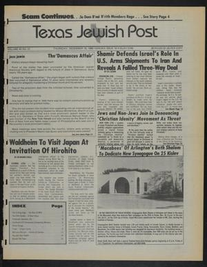 Primary view of object titled 'Texas Jewish Post (Fort Worth, Tex.), Vol. 40, No. 51, Ed. 1 Thursday, December 18, 1986'.