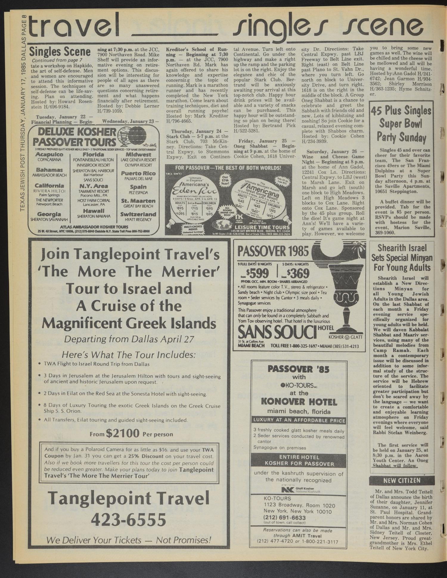 Texas Jewish Post (Fort Worth, Tex ), Vol  39, No  3, Ed  1