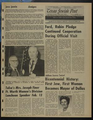 Primary view of object titled 'Texas Jewish Post (Fort Worth, Tex.), Vol. 30, No. 6, Ed. 1 Thursday, February 5, 1976'.
