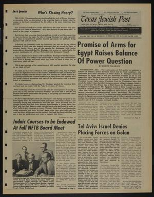 Primary view of object titled 'Texas Jewish Post (Fort Worth, Tex.), Vol. 29, No. 43, Ed. 1 Thursday, October 23, 1975'.