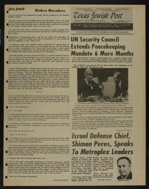 Primary view of object titled 'Texas Jewish Post (Fort Worth, Tex.), Vol. 29, No. 49, Ed. 1 Thursday, December 4, 1975'.