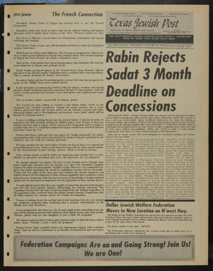 Primary view of object titled 'Texas Jewish Post (Fort Worth, Tex.), Vol. 29, No. 5, Ed. 1 Thursday, January 30, 1975'.
