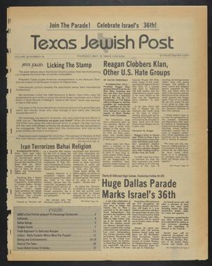 Primary view of object titled 'Texas Jewish Post (Fort Worth, Tex.), Vol. 38, No. 19, Ed. 1 Thursday, May 10, 1984'.