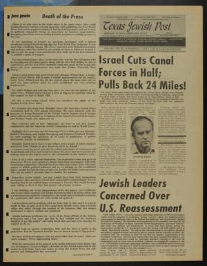Primary view of object titled 'Texas Jewish Post (Fort Worth, Tex.), Vol. 29, No. 23, Ed. 1 Thursday, June 5, 1975'.