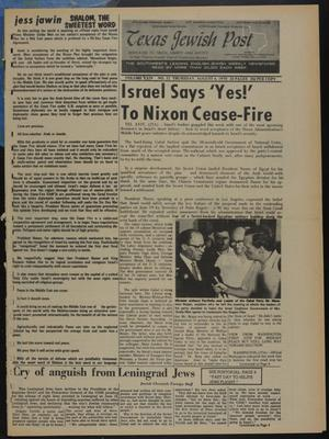 Primary view of object titled 'Texas Jewish Post (Fort Worth, Tex.), Vol. 24, No. 32, Ed. 1 Thursday, August 6, 1970'.