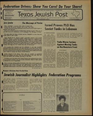 Primary view of object titled 'Texas Jewish Post (Fort Worth, Tex.), Vol. 34, No. 9, Ed. 1 Thursday, February 28, 1980'.