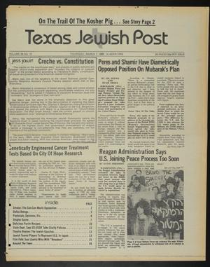 Primary view of object titled 'Texas Jewish Post (Fort Worth, Tex.), Vol. 39, No. 10, Ed. 1 Thursday, March 7, 1985'.