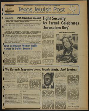 Primary view of object titled 'Texas Jewish Post (Fort Worth, Tex.), Vol. 34, No. 20, Ed. 1 Thursday, May 15, 1980'.