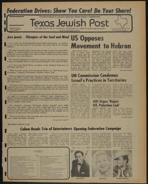 Primary view of object titled 'Texas Jewish Post (Fort Worth, Tex.), Vol. 34, No. 8, Ed. 1 Thursday, February 21, 1980'.