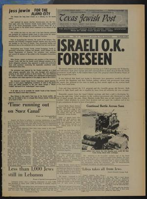 Primary view of object titled 'Texas Jewish Post (Fort Worth, Tex.), Vol. 24, No. 31, Ed. 1 Thursday, July 30, 1970'.