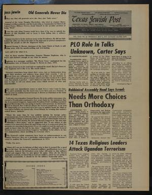 Primary view of object titled 'Texas Jewish Post (Fort Worth, Tex.), Vol. 31, No. 18, Ed. 1 Thursday, May 5, 1977'.