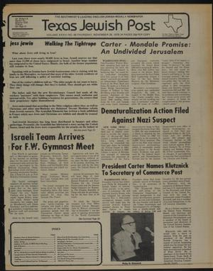 Primary view of object titled 'Texas Jewish Post (Fort Worth, Tex.), Vol. 33, No. 48, Ed. 1 Thursday, November 29, 1979'.