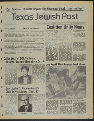 Primary view of object titled 'Texas Jewish Post (Fort Worth, Tex.), Vol. 38, No. 36, Ed. 1 Thursday, September 6, 1984'.
