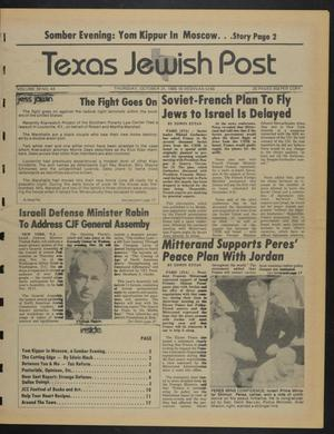 Primary view of object titled 'Texas Jewish Post (Fort Worth, Tex.), Vol. 39, No. 44, Ed. 1 Thursday, October 31, 1985'.