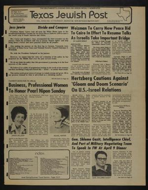 Primary view of object titled 'Texas Jewish Post (Fort Worth, Tex.), Vol. 32, No. 13, Ed. 1 Thursday, March 30, 1978'.
