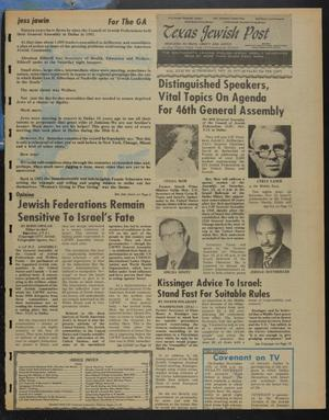 Primary view of object titled 'Texas Jewish Post (Fort Worth, Tex.), Vol. 31, No. 45, Ed. 1 Thursday, November 10, 1977'.