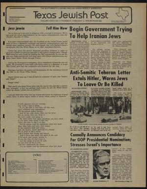 Primary view of object titled 'Texas Jewish Post (Fort Worth, Tex.), Vol. 33, No. 5, Ed. 1 Thursday, February 1, 1979'.