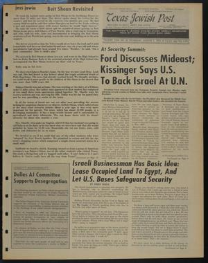 Primary view of object titled 'Texas Jewish Post (Fort Worth, Tex.), Vol. 29, No. 32, Ed. 1 Thursday, August 7, 1975'.