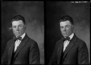 Primary view of object titled '[Portraits of Man with Bow Tie]'.