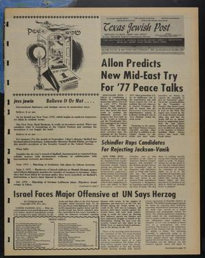 Primary view of object titled 'Texas Jewish Post (Fort Worth, Tex.), Vol. 30, No. 39, Ed. 1 Thursday, September 23, 1976'.