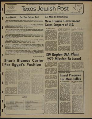 Primary view of object titled 'Texas Jewish Post (Fort Worth, Tex.), Vol. 33, No. 2, Ed. 1 Thursday, January 11, 1979'.