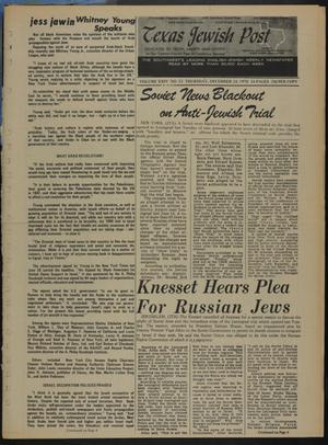 Primary view of object titled 'Texas Jewish Post (Fort Worth, Tex.), Vol. 24, No. 53, Ed. 1 Thursday, December 24, 1970'.