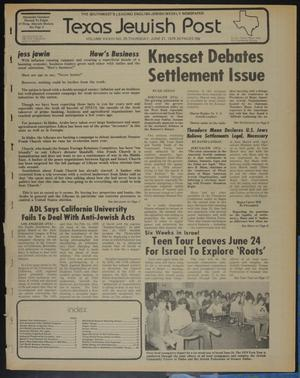 Primary view of object titled 'Texas Jewish Post (Fort Worth, Tex.), Vol. 33, No. 25, Ed. 1 Thursday, June 21, 1979'.
