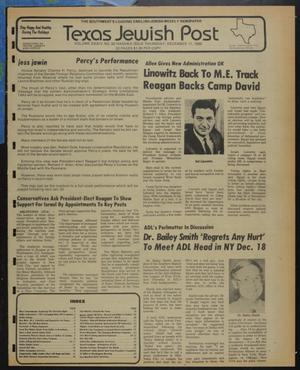 Primary view of object titled 'Texas Jewish Post (Fort Worth, Tex.), Vol. 34, No. 50, Ed. 1 Thursday, December 11, 1980'.