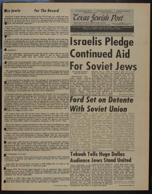 Primary view of object titled 'Texas Jewish Post (Fort Worth, Tex.), Vol. 29, No. 4, Ed. 1 Thursday, January 23, 1975'.