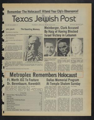 Primary view of object titled 'Texas Jewish Post (Fort Worth, Tex.), Vol. 38, No. 17, Ed. 1 Thursday, April 26, 1984'.