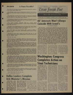 Primary view of object titled 'Texas Jewish Post (Fort Worth, Tex.), Vol. 29, No. 42, Ed. 1 Thursday, October 16, 1975'.