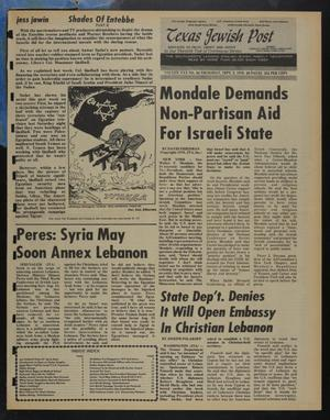 Primary view of object titled 'Texas Jewish Post (Fort Worth, Tex.), Vol. 30, No. 36, Ed. 1 Thursday, September 2, 1976'.