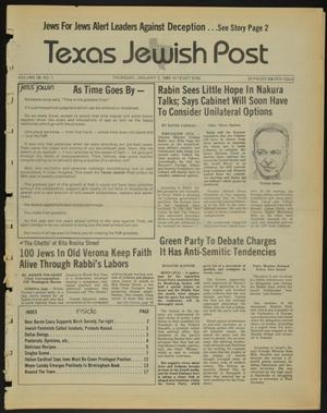 Primary view of object titled 'Texas Jewish Post (Fort Worth, Tex.), Vol. 39, No. 1, Ed. 1 Thursday, January 3, 1985'.