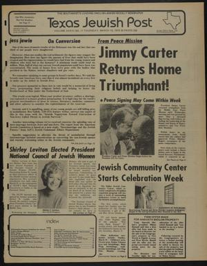 Primary view of object titled 'Texas Jewish Post (Fort Worth, Tex.), Vol. 33, No. 11, Ed. 1 Thursday, March 15, 1979'.