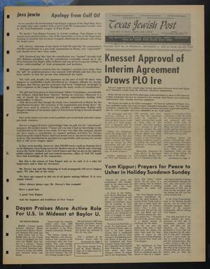 Primary view of object titled 'Texas Jewish Post (Fort Worth, Tex.), Vol. 29, No. 37, Ed. 1 Thursday, September 11, 1975'.