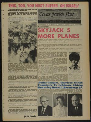 Primary view of object titled 'Texas Jewish Post (Fort Worth, Tex.), Vol. 24, No. 37, Ed. 1 Thursday, September 10, 1970'.