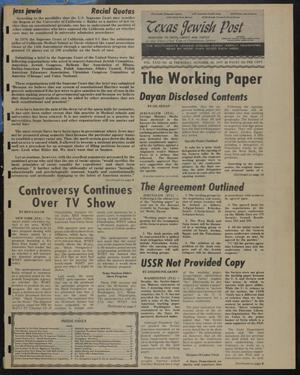 Primary view of object titled 'Texas Jewish Post (Fort Worth, Tex.), Vol. 31, No. 42, Ed. 1 Thursday, October 20, 1977'.