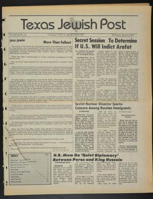 Primary view of object titled 'Texas Jewish Post (Fort Worth, Tex.), Vol. 40, No. 19, Ed. 1 Thursday, May 8, 1986'.