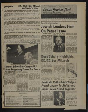 Primary view of object titled 'Texas Jewish Post (Fort Worth, Tex.), Vol. 31, No. 46, Ed. 1 Thursday, November 17, 1977'.