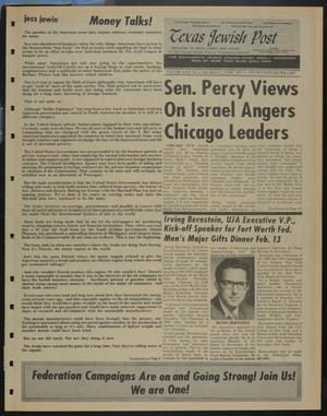 Primary view of object titled 'Texas Jewish Post (Fort Worth, Tex.), Vol. 29, No. 6, Ed. 1 Thursday, February 6, 1975'.