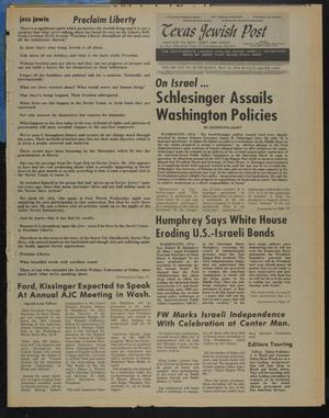 Primary view of object titled 'Texas Jewish Post (Fort Worth, Tex.), Vol. 30, No. 20, Ed. 1 Thursday, May 13, 1976'.