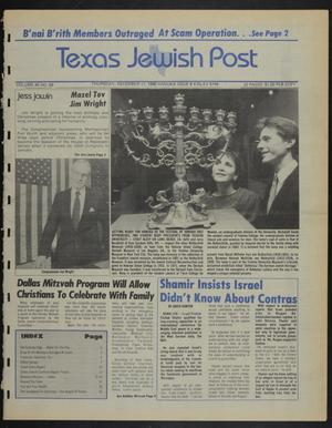 Primary view of object titled 'Texas Jewish Post (Fort Worth, Tex.), Vol. 40, No. 50, Ed. 1 Thursday, December 11, 1986'.
