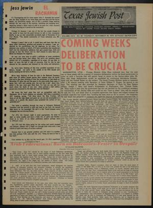 Primary view of object titled 'Texas Jewish Post (Fort Worth, Tex.), Vol. 24, No. 49, Ed. 1 Thursday, November 26, 1970'.