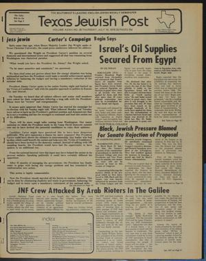Primary view of object titled 'Texas Jewish Post (Fort Worth, Tex.), Vol. 33, No. 29, Ed. 1 Thursday, July 19, 1979'.
