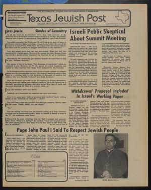 Primary view of object titled 'Texas Jewish Post (Fort Worth, Tex.), Vol. 32, No. 35, Ed. 1 Thursday, August 31, 1978'.