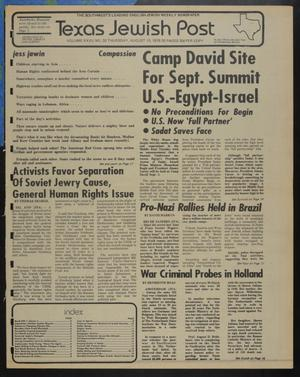 Primary view of object titled 'Texas Jewish Post (Fort Worth, Tex.), Vol. 32, No. 32, Ed. 1 Thursday, August 10, 1978'.