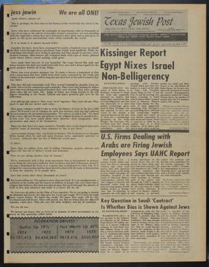 Primary view of object titled 'Texas Jewish Post (Fort Worth, Tex.), Vol. 34, No. 8, Ed. 1 Thursday, February 20, 1975'.