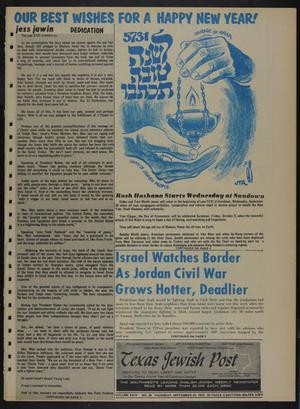 Primary view of object titled 'Texas Jewish Post (Fort Worth, Tex.), Vol. 24, No. 39, Ed. 1 Thursday, September 24, 1970'.